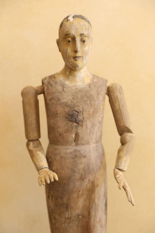 19th century articulated religious figure.