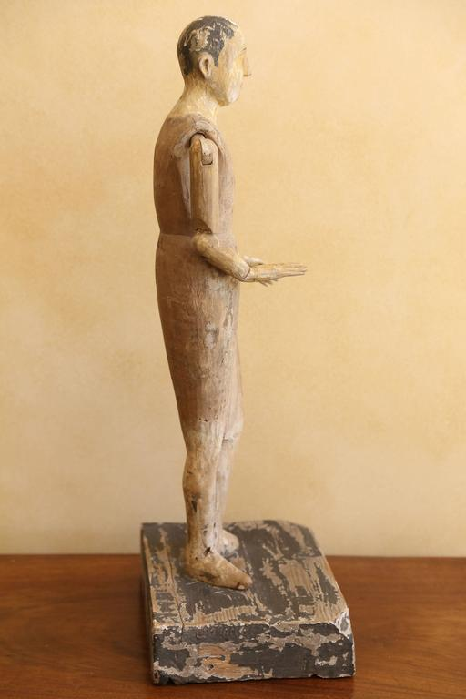 19th Century Religious Santo Figure In Excellent Condition For Sale In Houston, TX