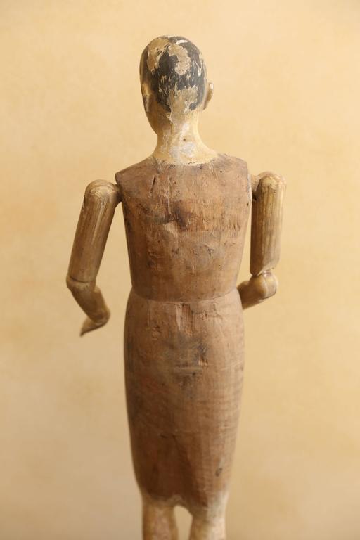 Wood 19th Century Religious Santo Figure For Sale