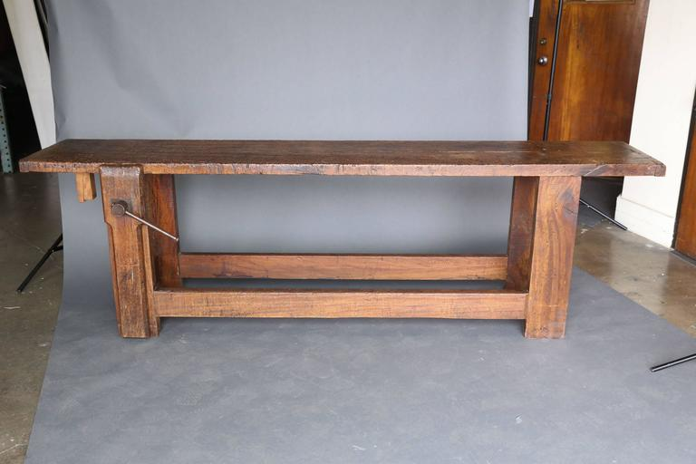 Long Narrow 19th Century Workbench 2