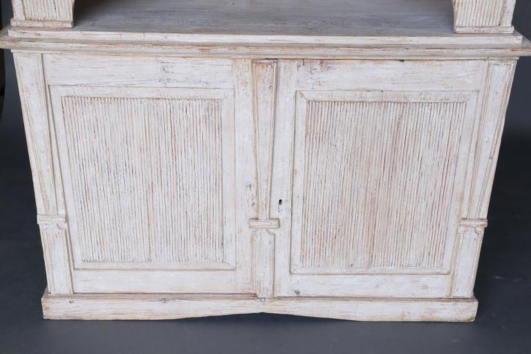 18th Century and Earlier 19th Century Swedish Painted Folk Art Cupboard For Sale