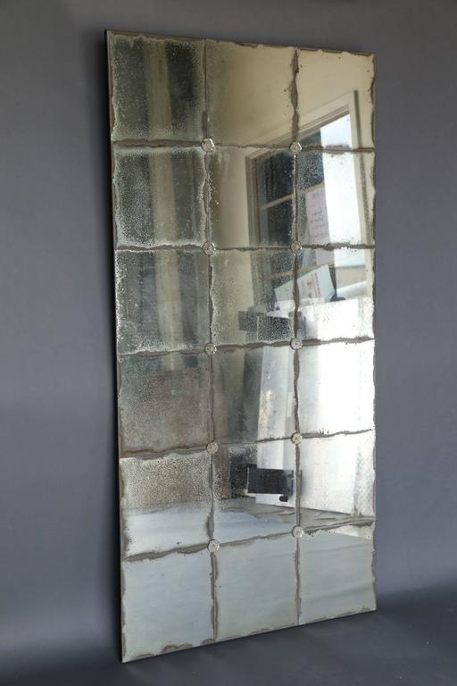 Antique 18th Century Mercury Glass Fragment Mirror At 1stdibs