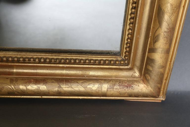 Mid-19th Century 19th Century Louis Philippe Gilt Mirror For Sale