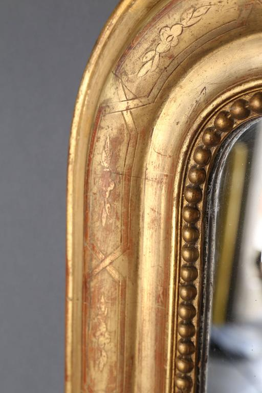 French 19th Century Louis Philippe Gilt Mirror For Sale