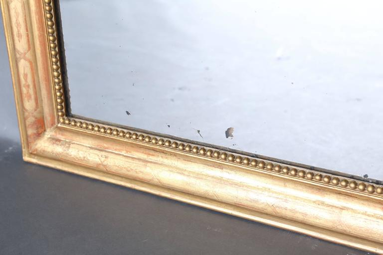 19th Century Louis Philippe Gilt Mirror In Excellent Condition For Sale In Houston, TX