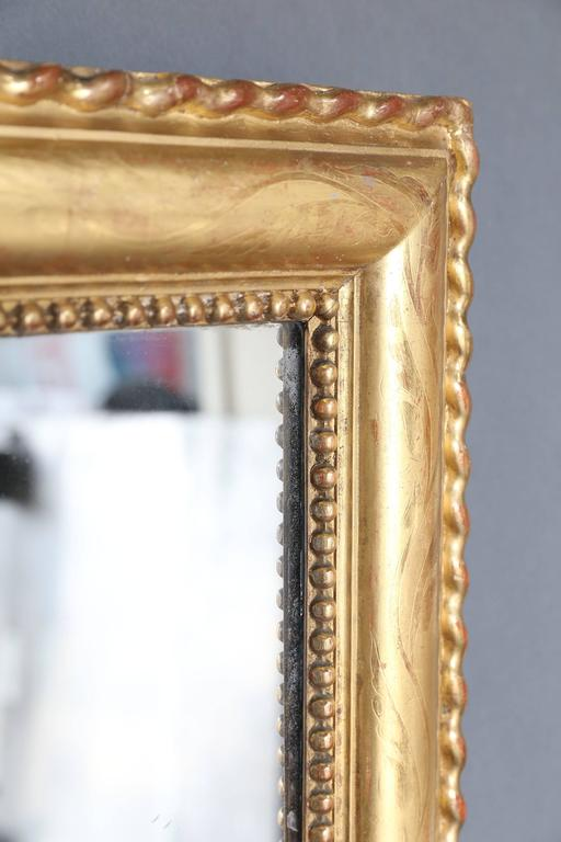 Large 19th Century Gilt Rectangular Mirror In Excellent Condition For Sale In Houston, TX