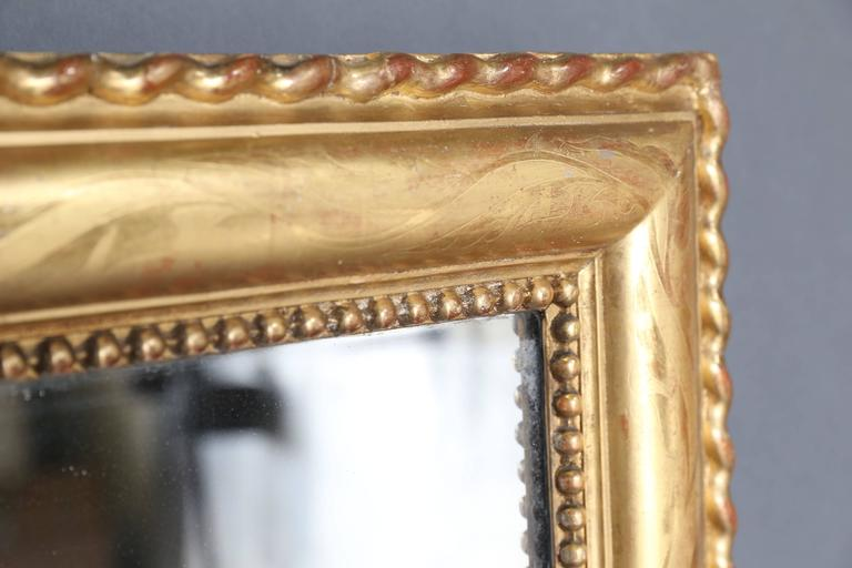 Large 19th Century Gilt Rectangular Mirror For Sale 2