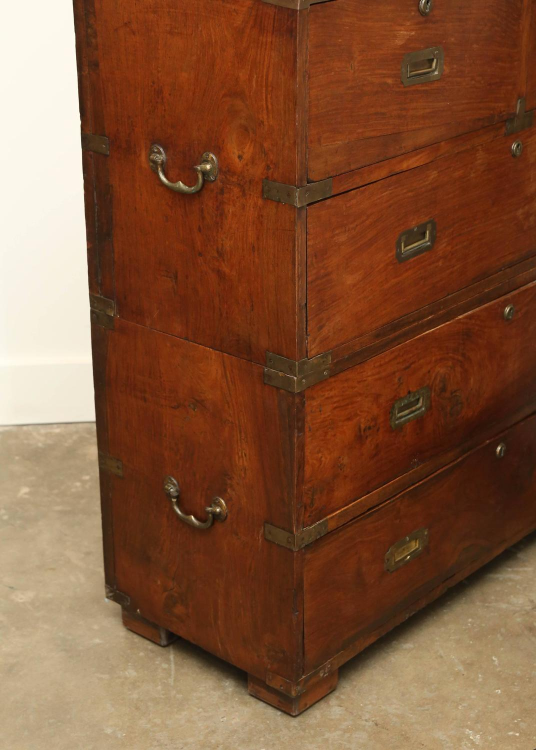 Military Wood Furniture ~ Antique th century george iii military campaign chest in