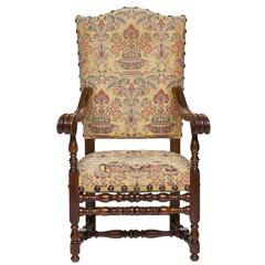 19th Century Italian Walnut Armchair