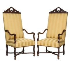 19th Century Pair of Gothic Armchairs