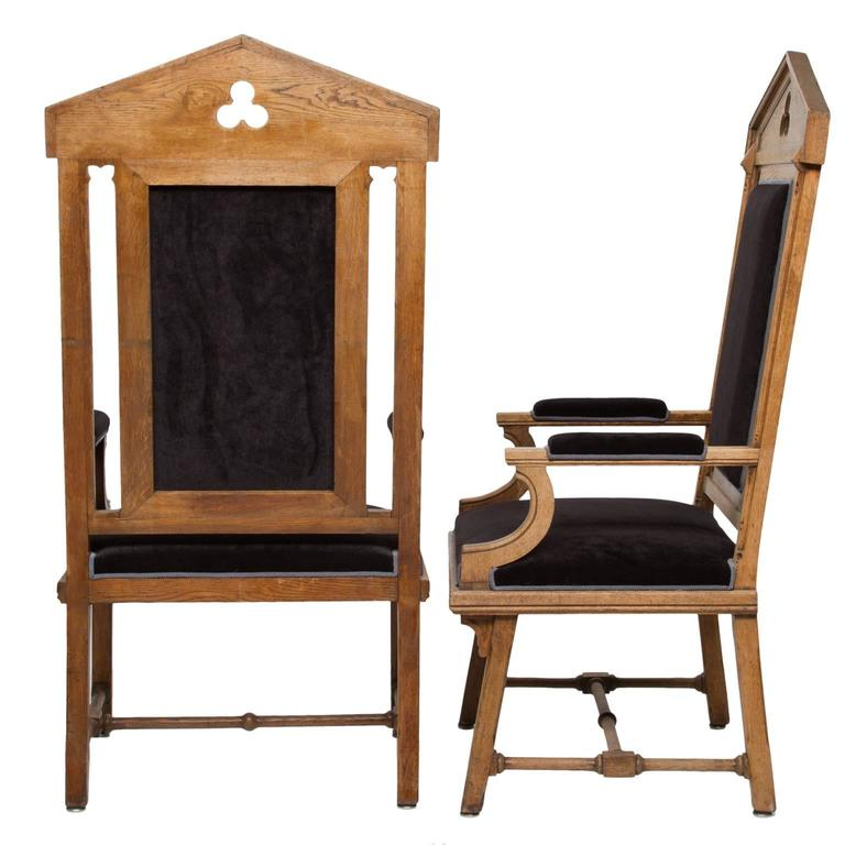 Dutch Vintage Moorish Style Large Armchairs For Sale