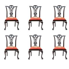 19th Century Chippendale Style Mahogany Side Chairs