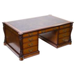 English Made Chippendale Partners Desk