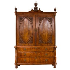 18th Century, Dutch, Louis XVI Mahogany Cabinet