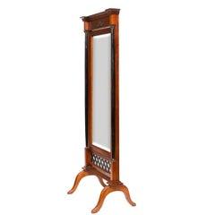 Vintage Biedermeier Cheval Mirror
