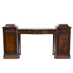 19th Century Adams Style Pedestal or Console Sideboard