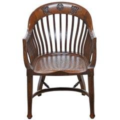 Vintage Barrel Back Headmaster's Chair