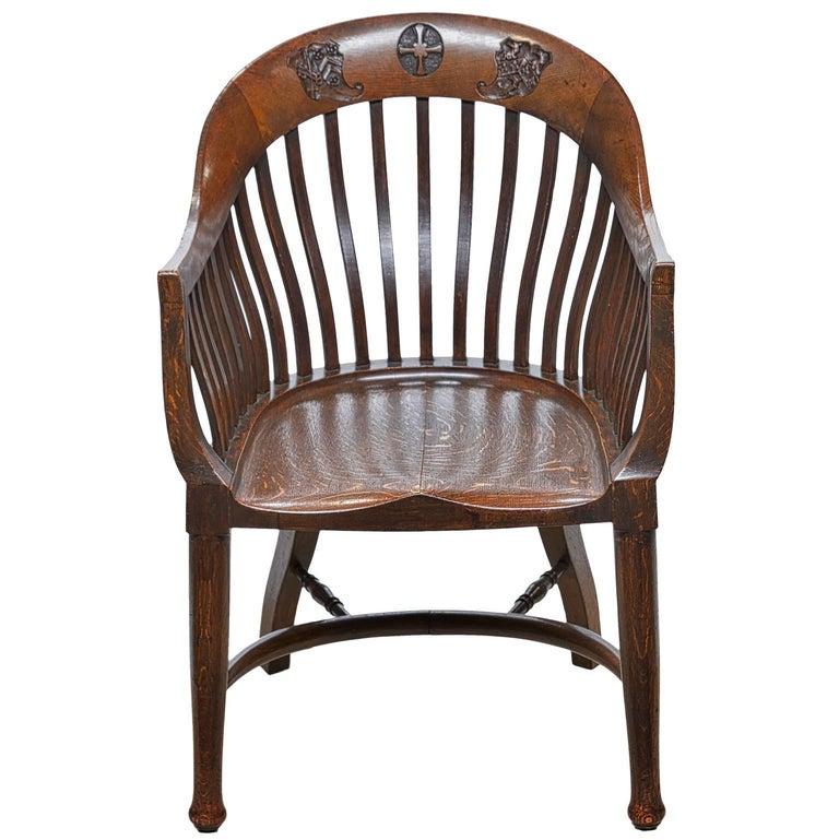 Vintage Barrel Back Headmaster S Chair For Sale At 1stdibs