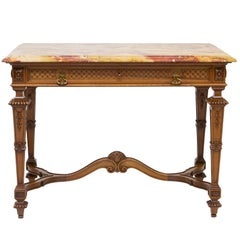 19th Century, French Renaissance Marble-Top Table