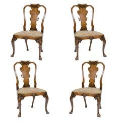 19th Century English Walnut Side Chairs