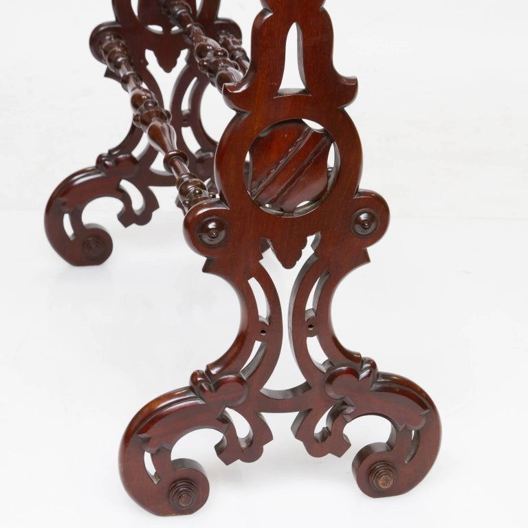 Woodwork 19th Century Continental Quilt Stand For Sale