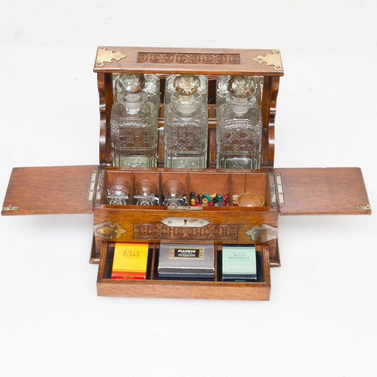British Colonial 19th Century, English Decanter Set of with Case For Sale