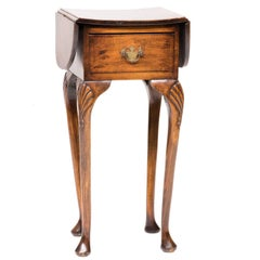 19th Century Queen Anne Drop-Leaf Side Table