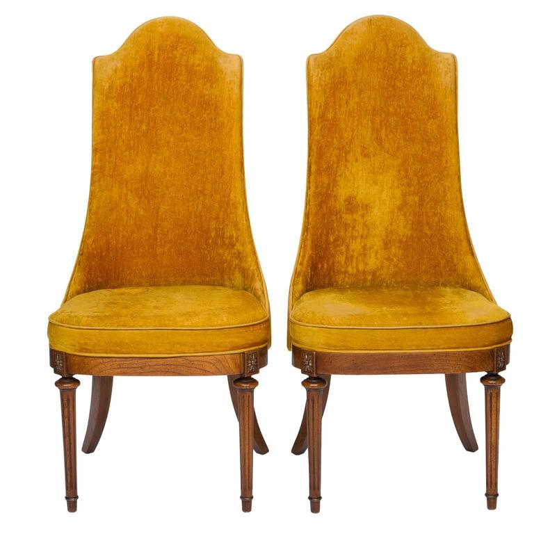 Pair Of Vintage Hollywood Regency Chairs For Sale