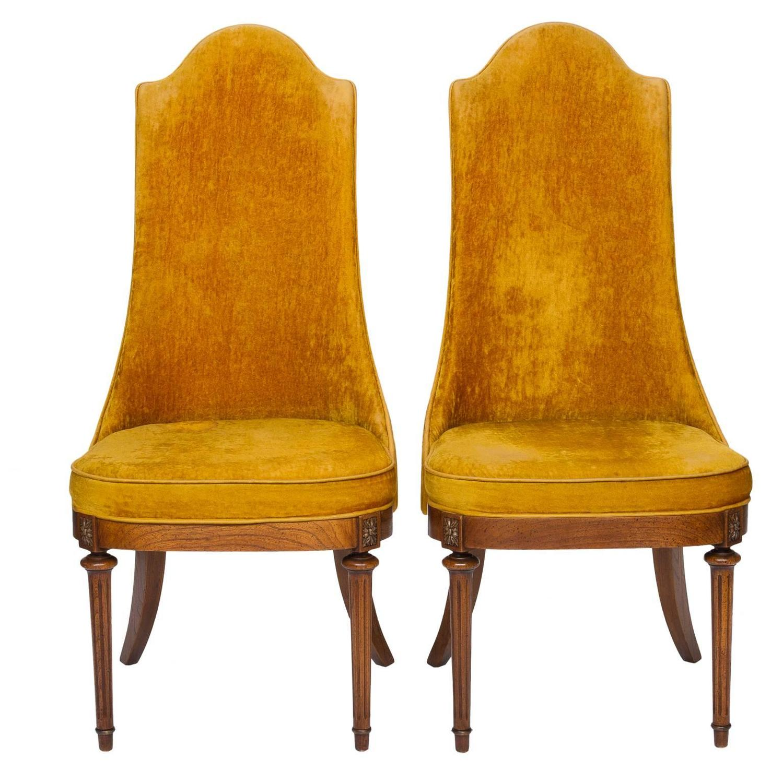 Pair Of Vintage Hollywood Regency Chairs At 1stdibs
