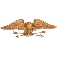 Italian Carved Eagle Holding Arrows by Palladio