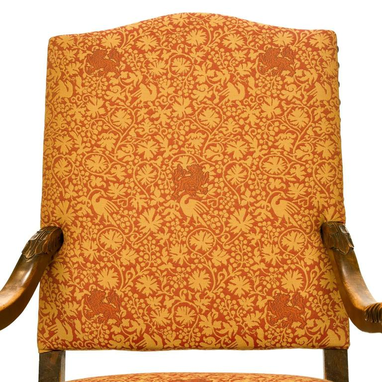 19th Century Louis XIII Style Walnut Armchair In Excellent Condition For Sale In Brentwood, TN