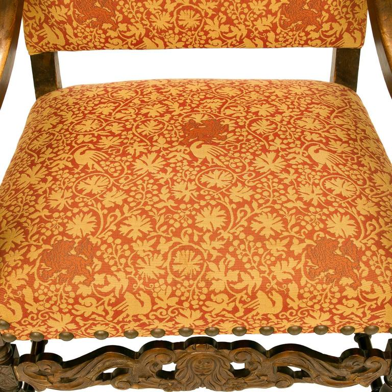 19th Century Louis XIII Style Walnut Armchair For Sale 1