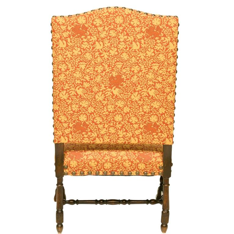 19th Century Louis XIII Style Walnut Armchair For Sale 3