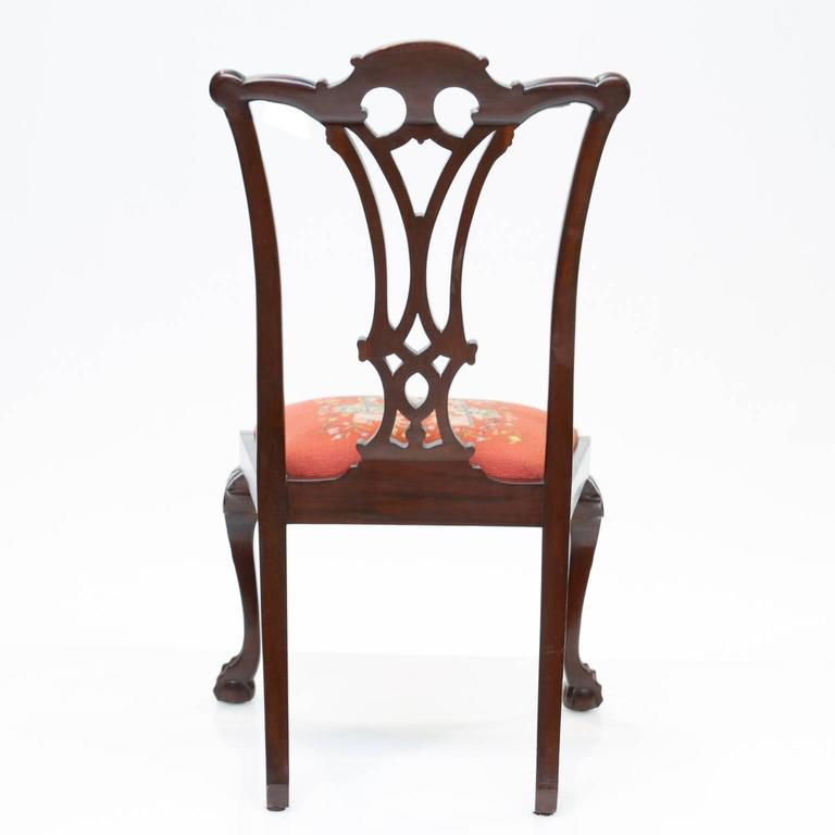 19th Century Chippendale Style Mahogany Side Chairs In Excellent Condition For Sale In Brentwood, TN