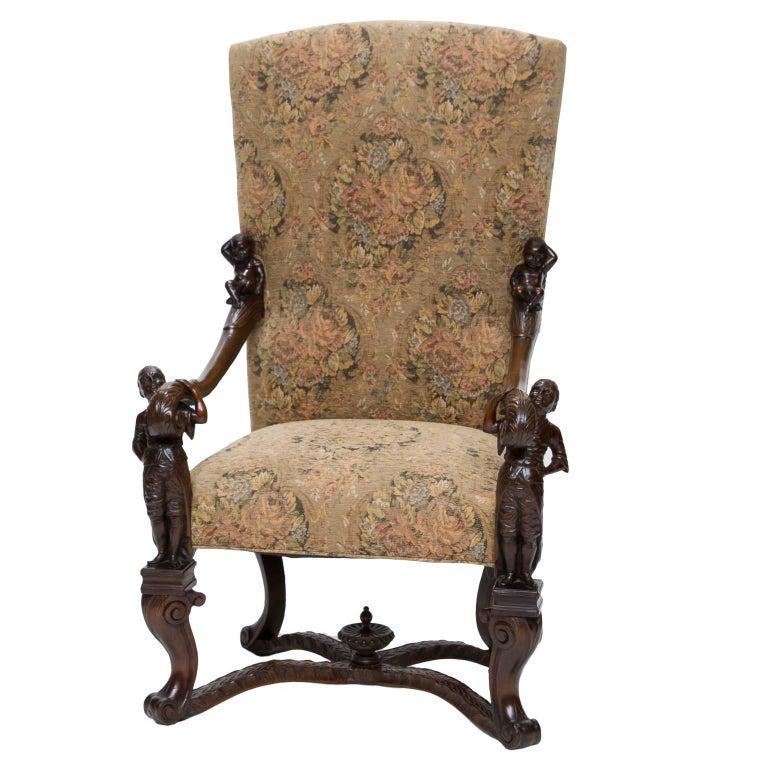 Italian Sofa Brent Cross: 19th Century Venetian Baroque Armchairs For Sale At 1stdibs