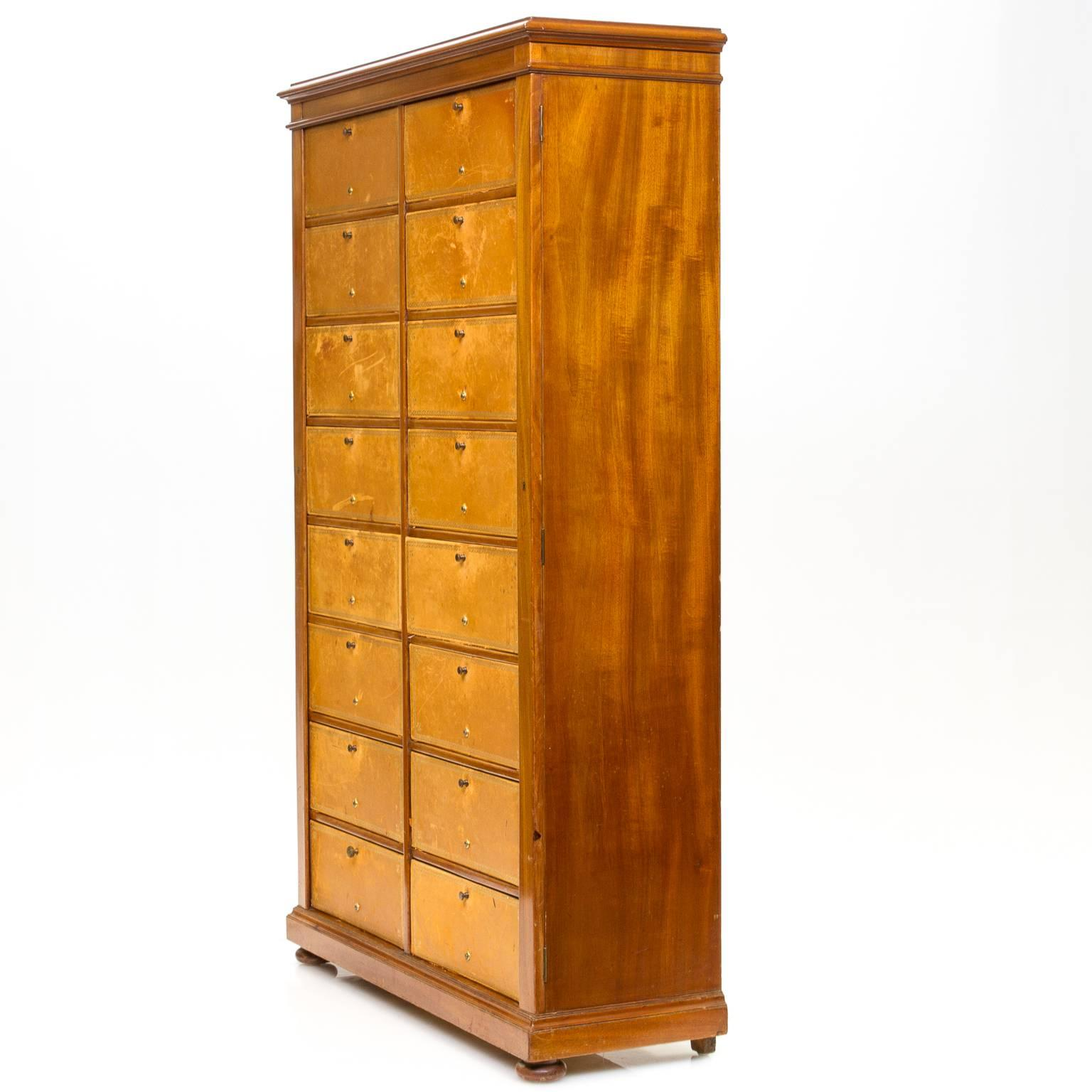 sc 1 st  1stDibs & English Mahogany File Cabinet For Sale at 1stdibs