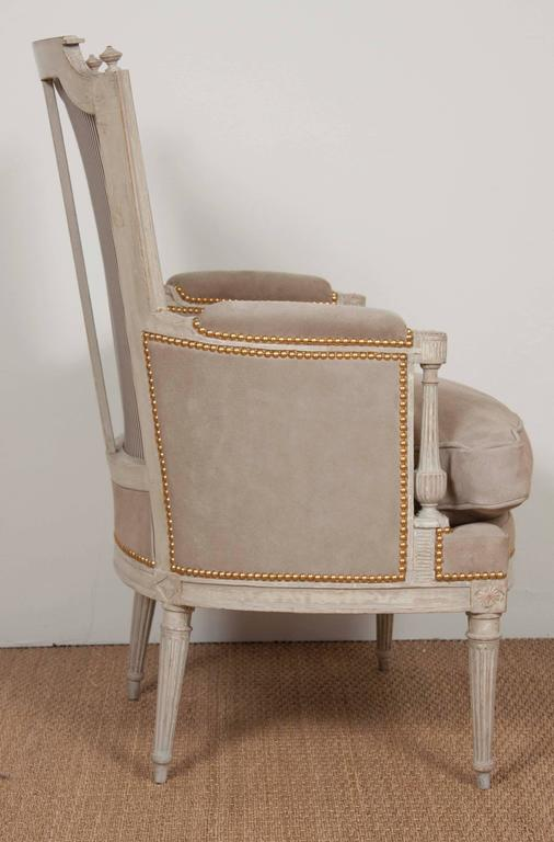 Painted Pair of Louis XVI Style Chairs  For Sale