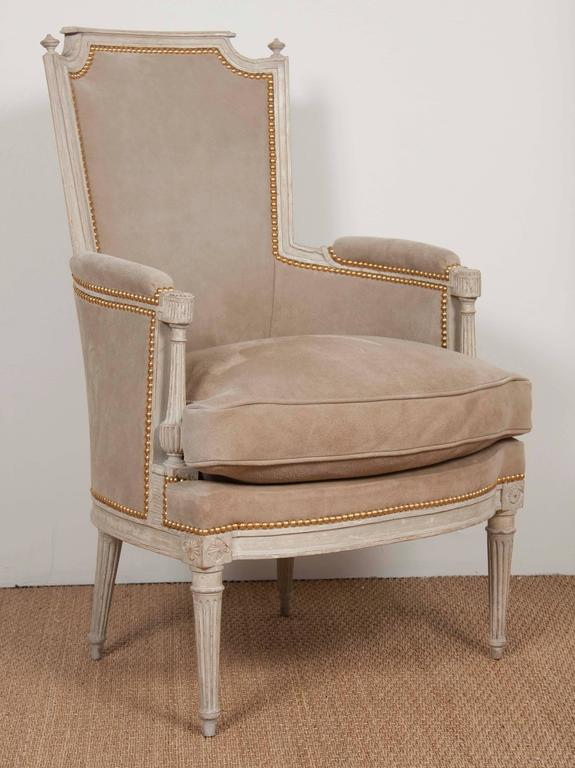 Swedish Pair of Louis XVI Style Chairs  For Sale