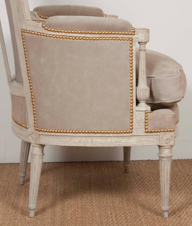 Pair of Louis XVI Style Chairs  For Sale 1