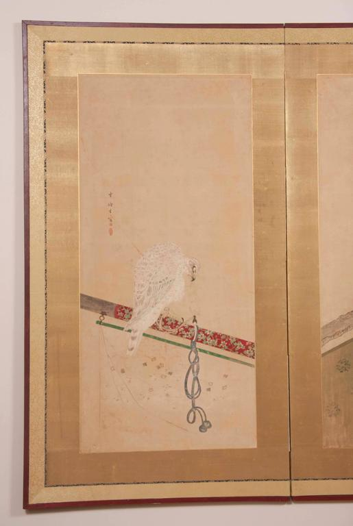 Japanese Edo Period Two-Panel Screen In Good Condition For Sale In Stamford, CT
