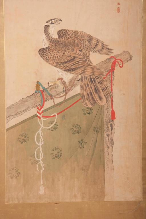 Japanese Edo Period Two-Panel Screen For Sale 1