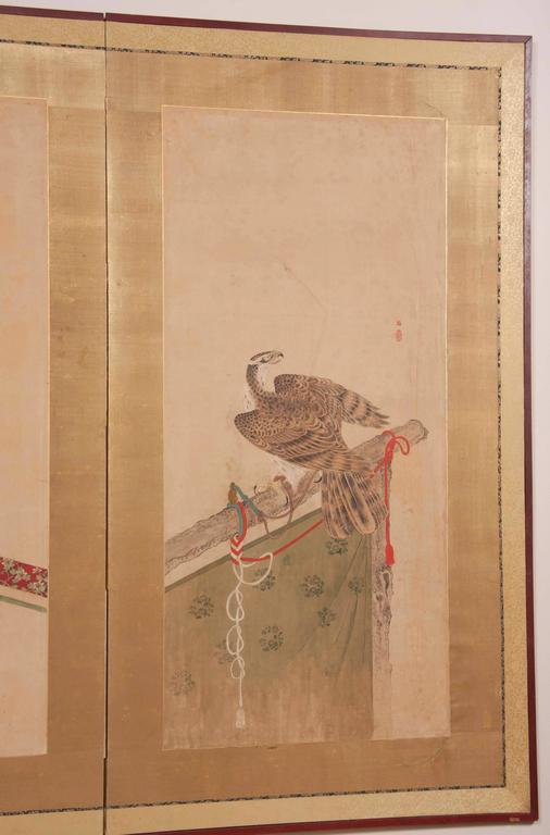 Japanese Edo Period Two-Panel Screen For Sale 2