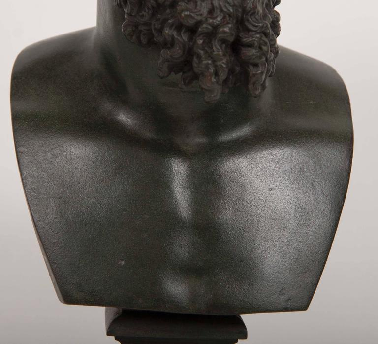 19th Century Grand Tour Patinated Bronze Bust of Lucius Verus For Sale 5