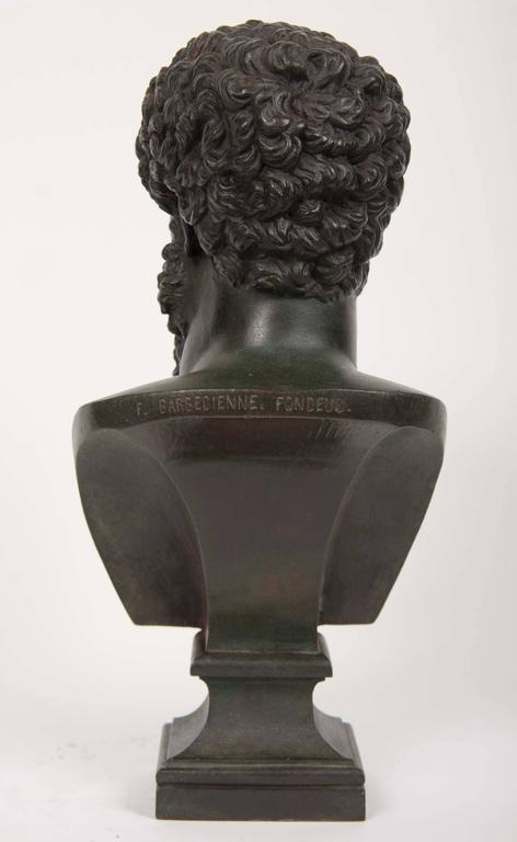 19th Century Grand Tour Patinated Bronze Bust of Lucius Verus For Sale 1