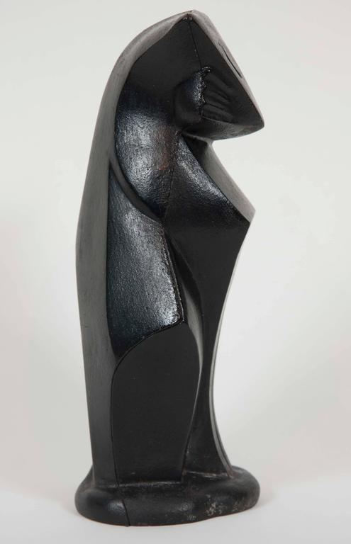 American Art Deco Cast Iron Cat by Hubley For Sale