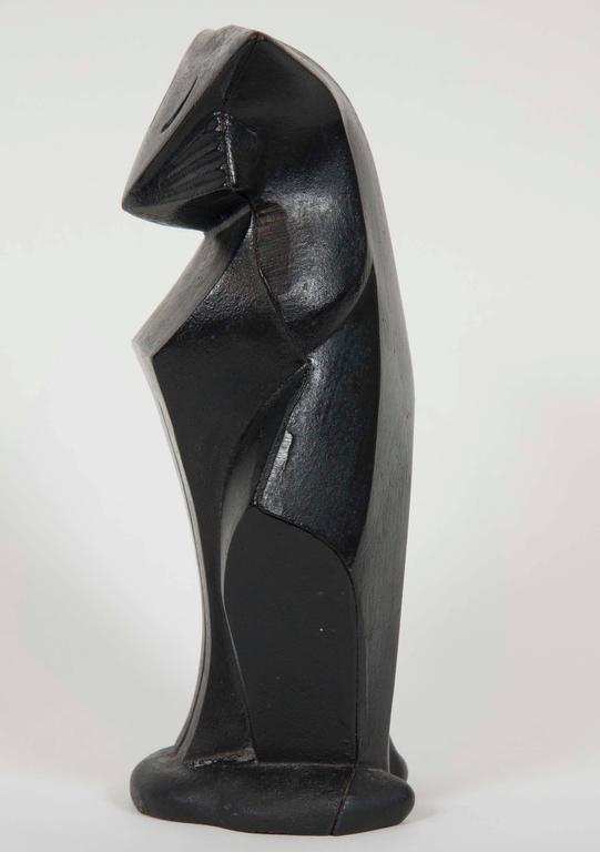 Art Deco Cast Iron Cat by Hubley In Good Condition For Sale In Stamford, CT
