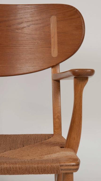 Hans Wegner Model CH22 Shell Back Paddle Armchair For Sale 1