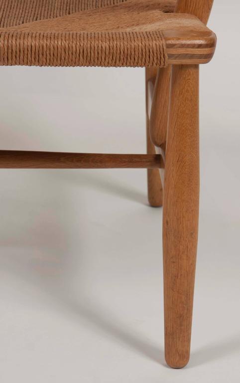 Hans Wegner Model CH22 Shell Back Paddle Armchair For Sale 2