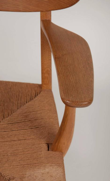 Mid-20th Century Hans Wegner Model CH22 Shell Back Paddle Armchair For Sale