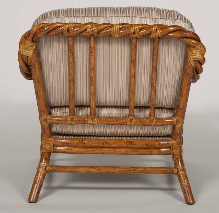 28 rattan chair and ottoman pair of rattan club chairs and
